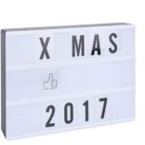 Coffret lumineux lightbox 100 lettres et symboles