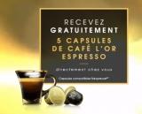 5 capsules de café L'Or Expresso offertes